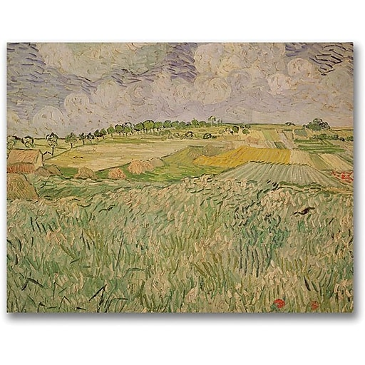 "Trademark Global Vincent Van Gogh ""The Plains of Auvers"" Canvas Art, 35"" x 47"""