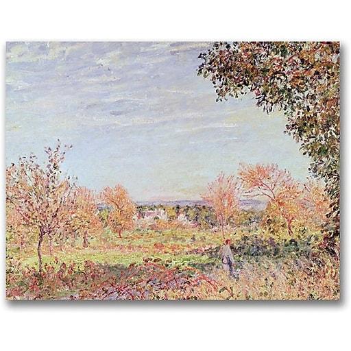 """Trademark Global Alfred Sisley """"September Morning"""" Canvas Art, 24"""" x 32"""""""