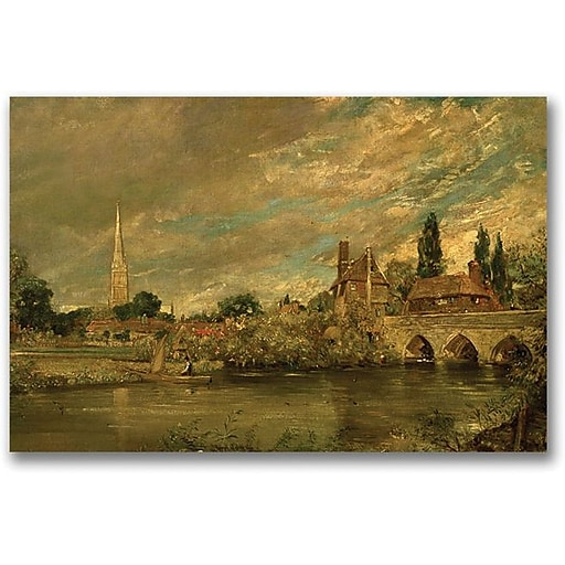 "Trademark Global John Constable ""The Bridge of Harnham"" Canvas Art, 16"" x 24"""