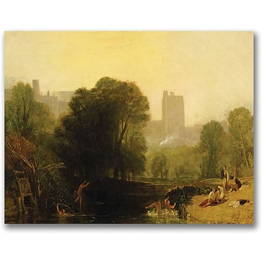 "Trademark Global Joseph Turner ""Near the Thames Lock Windsor"" Canvas Art, 18"" x 24"""