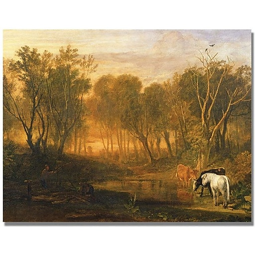 "Trademark Global Joseph Turner ""The Forest of Berer"" Canvas Art, 24"" x 32"""