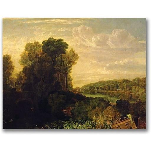 "Trademark Global Joseph Turner ""The Thames at Weybridge"" Canvas Art, 35"" x 47"""