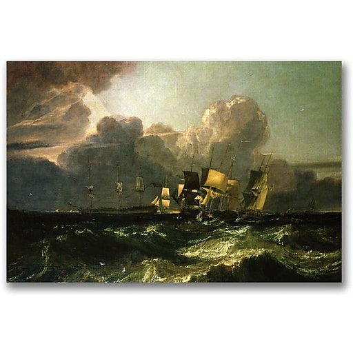 "Trademark Global Joseph Turner ""Ships Bearing up for Anchorage"" Canvas Art, 16"" x 24"""