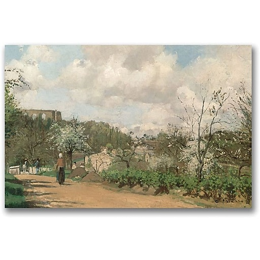 """Trademark Global Camille Pissarro """"View from Louveciennes"""" Canvas Art, 30"""" x 47"""""""