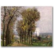 "Trademark Global Jean Baptiste Guillamin ""Landscape in France"" Canvas Art, 35"" x 47"""