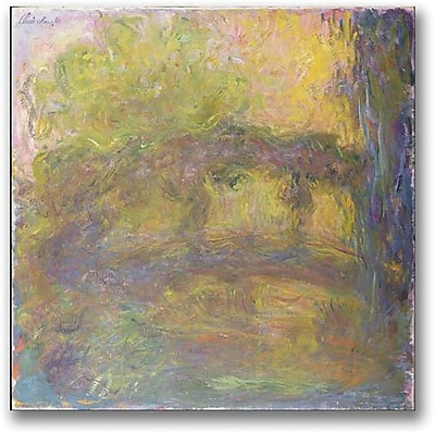 "Trademark Global Claude Monet ""The Japanese Bridge 1918 24"" Canvas Art, 18"" x 18"""