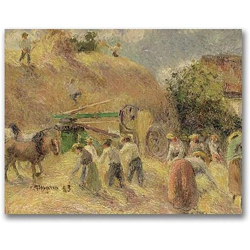 "Trademark Global Camille Pissarro ""The Harvest"" Canvas Art, 26"" x 32"""