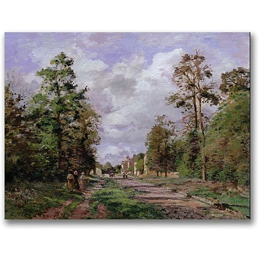 "Trademark Global Camille Pissarro ""The Road to Louveciennes Edge"" Canvas Art, 35"" x 47"""