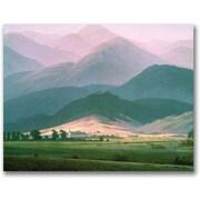 "Trademark Global Caspar David Friedrich ""Landscape in the Riesengebirge"" Canvas Art, 18"" x 24"""