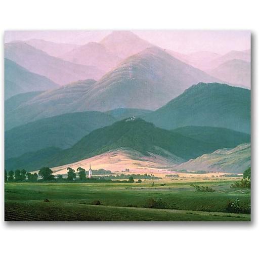 "Trademark Global Caspar David Friedrich ""Landscape in the Riesengebirge"" Canvas Art, 35"" x 47"""