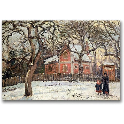 "Trademark Global Camille Pissaro ""Chestnut Trees at Louveciennes"" Canvas Art, 24"" x 32"""
