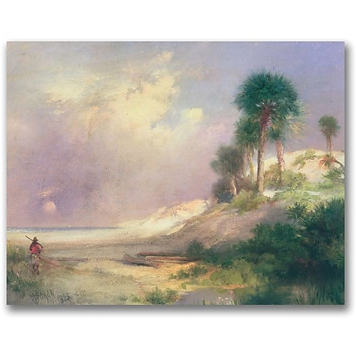 "Trademark Global Thomas Moran ""Florida 1895"" Canvas Art, 18"" x 24"""