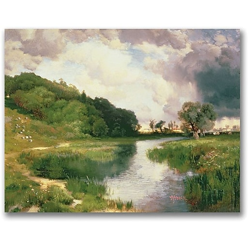 "Trademark Global Thomas Moran ""Approaching Storm Amagansett"" Canvas Art, 35"" x 47"""