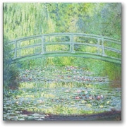 "Trademark Global Claude Monet ""Waterlily Pond-The Bridge II"" Canvas Art, 18"" x 18"""