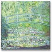 "Trademark Global Claude Monet ""Waterlily Pond-The Bridge II"" Canvas Art, 24"" x 24"""
