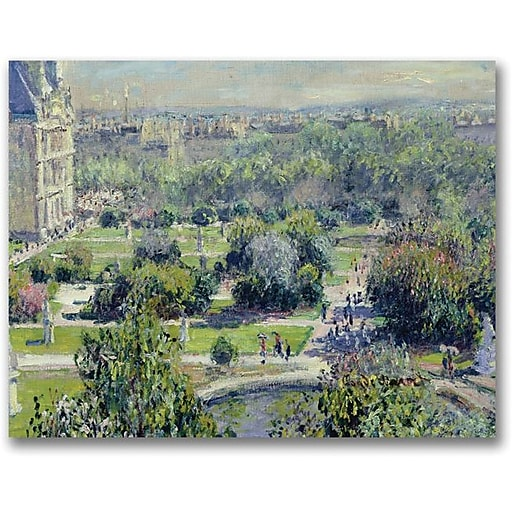 """Trademark Global Claude Monet """"View of the Tuileries"""" Canvas Art, 18"""" x 24"""""""