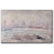 "Trademark Global Claude Monet ""Frost near Vetheuil"" Canvas Art, 30"" x 47"""