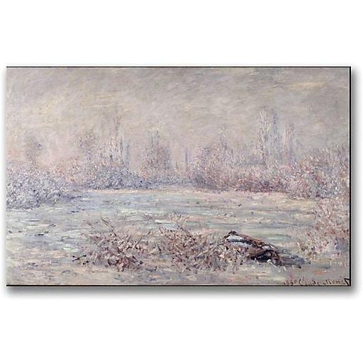 """Trademark Global Claude Monet """"Frost near Vetheuil"""" Canvas Art, 30"""" x 47"""""""