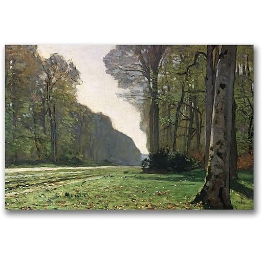 "Trademark Global Claude Monet ""The Road to Bas Breau"" Canvas Art, 35"" x 47"""