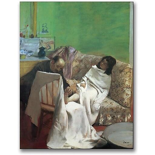 "Trademark Global Edgar Degas ""The Pedicure, 1873"" Canvas Art, 32"" x 24"""