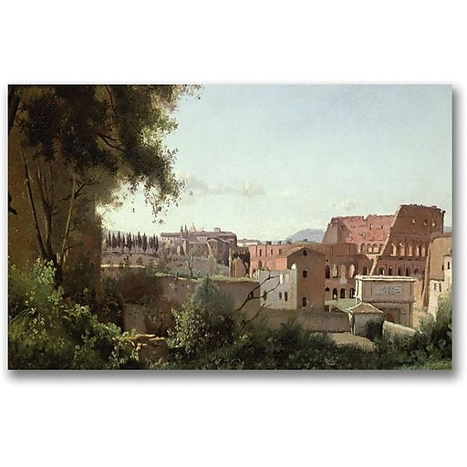 """Trademark Global Jean Baptiste Corot """"View of the Colosseum"""" Canvas Art, 30"""" x 47"""""""