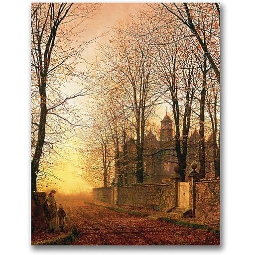 "Trademark Global John Atkinson Grimshaw ""In the Golden Olden Time"" Canvas Art, 24"" x 18"""