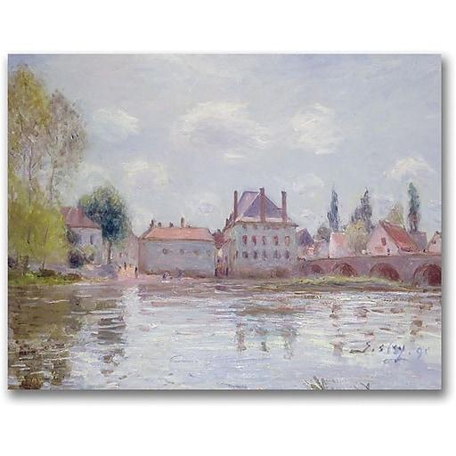 "Trademark Global Alfred Sisley ""The Bridge at Moret sur Loing"" Canvas Art, 18"" x 24"""