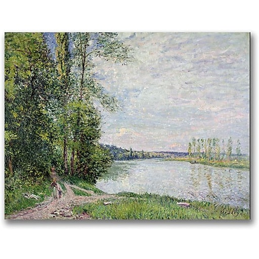 """Trademark Global Alfred Sisley """"The Riverside Road from Veneux"""" Canvas Art, 18"""" x 24"""""""