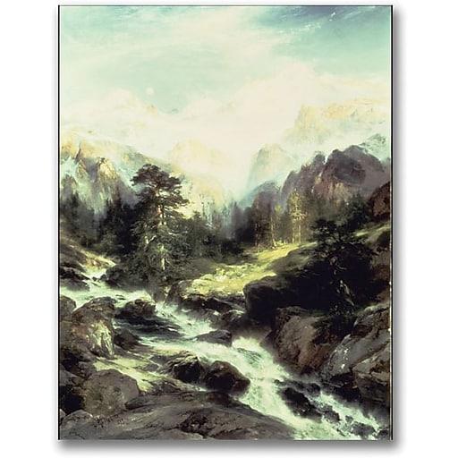 "Trademark Global Thomas Moran ""In the Tetron Range"" Canvas Art, 47"" x 35"""