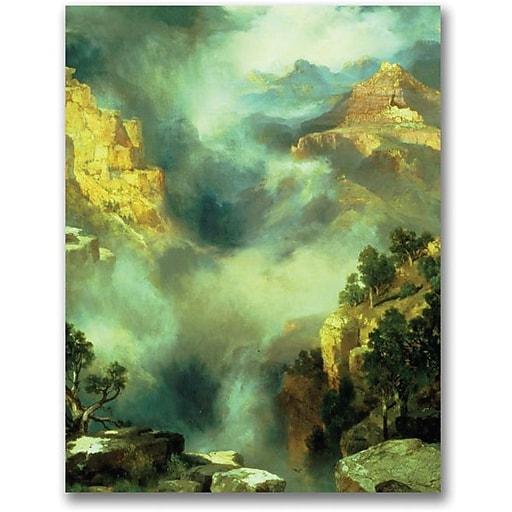 "Trademark Global Thomas Moran ""Mist in the Canyon"" Canvas Art, 47"" x 35"""