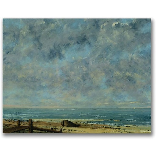 """Trademark Global Gustave Courbet """"The Sea c.1872"""" Canvas Art, 18"""" x 24"""""""