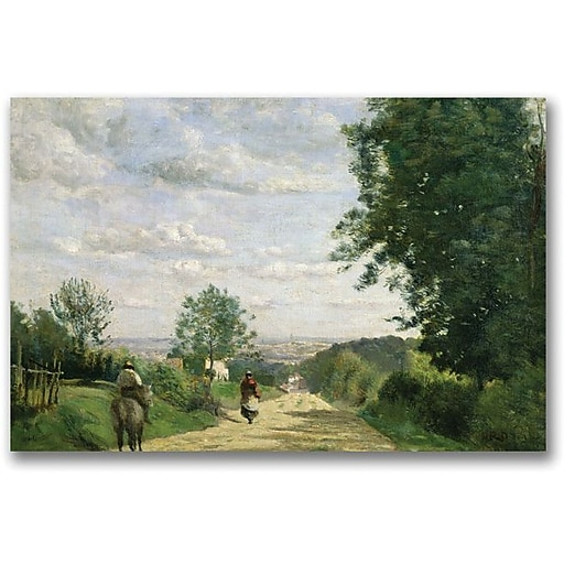 "Trademark Global Jean Baptiste Corot ""The Road to Sevres"" Canvas Art, 35"" x 47"""