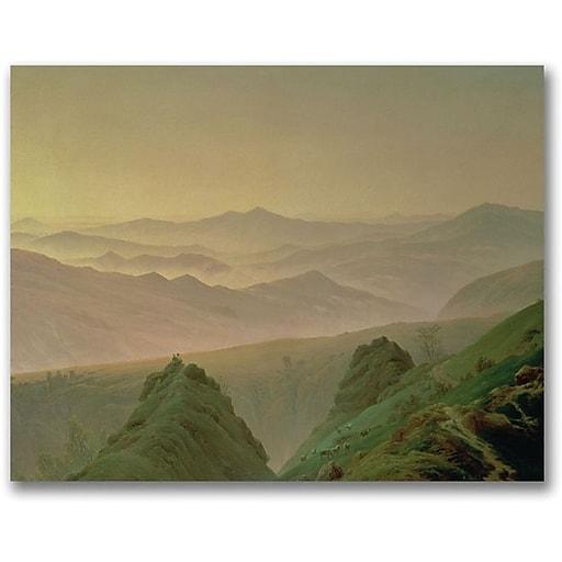 "Trademark Global Caspar David Friedrich ""Morning in the Mountain"" Canvas Art, 18"" x 24"""