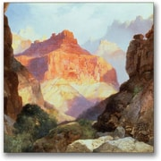"Trademark Global Thomas Moran ""Under the Red Wall"" Canvas Art, 24"" x 24"""