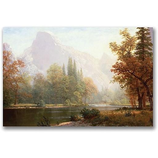 "Trademark Global Albert Biersdant ""Half Dome Yosemite"" Canvas Art, 18"" x 24"""