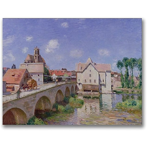 "Trademark Global Alfred Sisley ""The Bridge at Moret, 1893"" Canvas Art, 18"" x 24"""