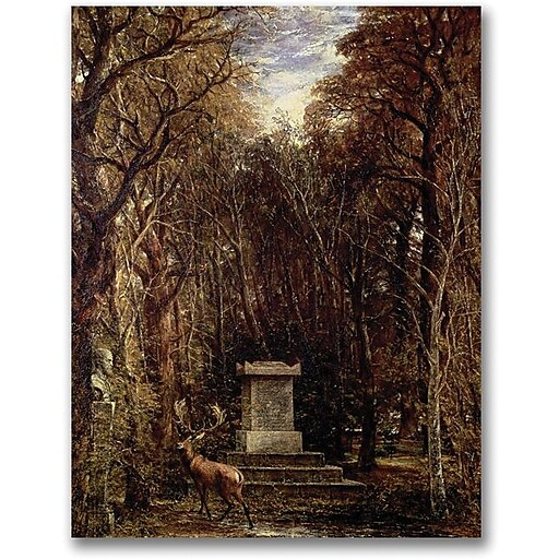 "Trademark Global John Atkinson Grimshaw ""The Cenotaph to Reynold's Memory"" Canvas Art, 32"" x 24"""