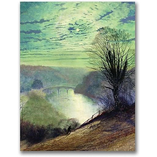 "Trademark Global John Atkinson Grimshaw ""On the Tees near Barnard Castle"" Canvas Art, 24"" x 18"""