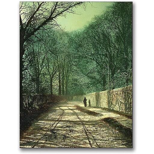 "Trademark Global John Atkinson Grimshaw ""Tree Shadows in the Park Wall"" Canvas Art, 32"" x 24"""