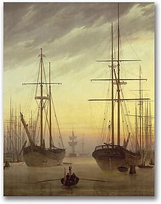"Trademark Global John Atkinson Grimshaw ""View of a Harbour"" Canvas Art, 24"" x 18"""