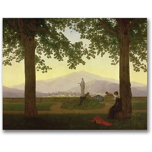 "Trademark Global Caspar David Friedrich ""Garden Terrace, 1811"" Canvas Art, 35"" x 47"""