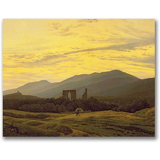 "Trademark Global Caspar David Friedrich ""Ruins in the Riesengebirge"" Canvas Art, 35"" x 47"""