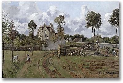 "Trademark Global Camille Pissarro ""Pontoise Landscape"" Canvas Art, 16"" x 24"""
