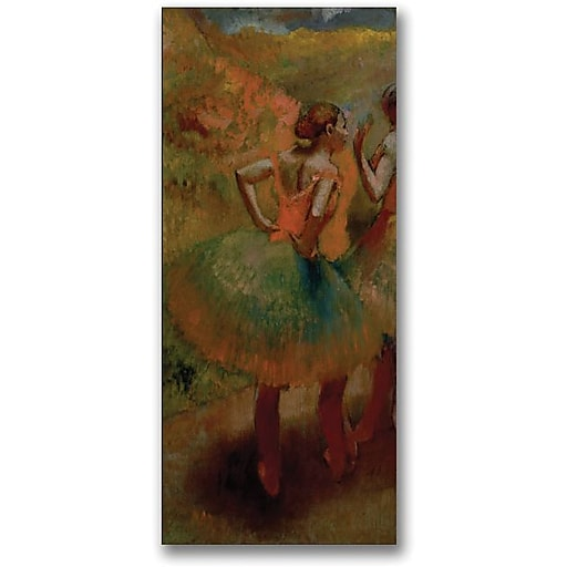 "Trademark Global Edgar Degas ""Dancers wearing Green Skirts"" Canvas Art, 47"" x 24"""