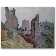 "Trademark Global Jean Baptiste Guillamin ""Ruins in the Fog"" Canvas Art, 24"" x 32"""