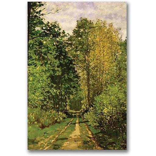 "Trademark Global Claude Monet ""Wooded Path, 1865"" Canvas Art, 24"" x 18"""