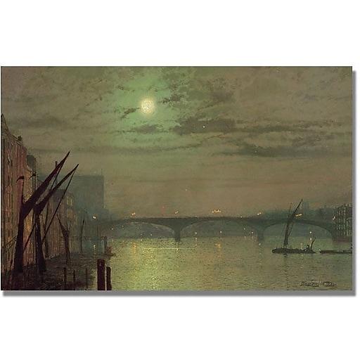 "Trademark Global John Atkinson Grimshaw ""Southwark Bridge 1882"" Canvas Art, 30"" x 47"""