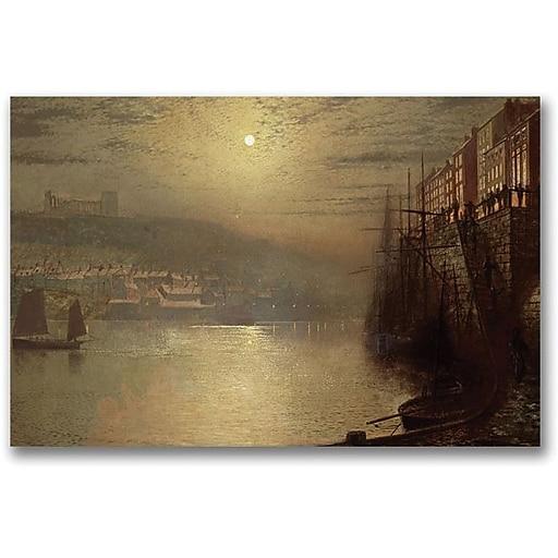 "Trademark Global John Atkinson Grimshaw ""Whitby"" Canvas Art, 30"" x 47"" (BL0619-C3047GG)"