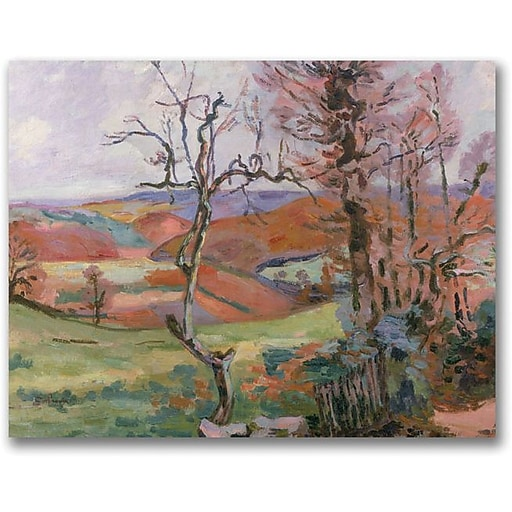"""Trademark Global Jean Baptiste """"The Puy Barion at Crozant"""" Canvas Art, 18"""" x 24"""""""