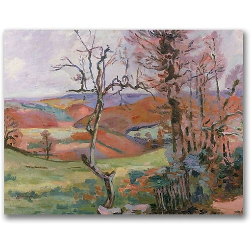 """Trademark Global Jean Baptiste """"The Puy Barion at Crozant"""" Canvas Art, 24"""" x 32"""""""